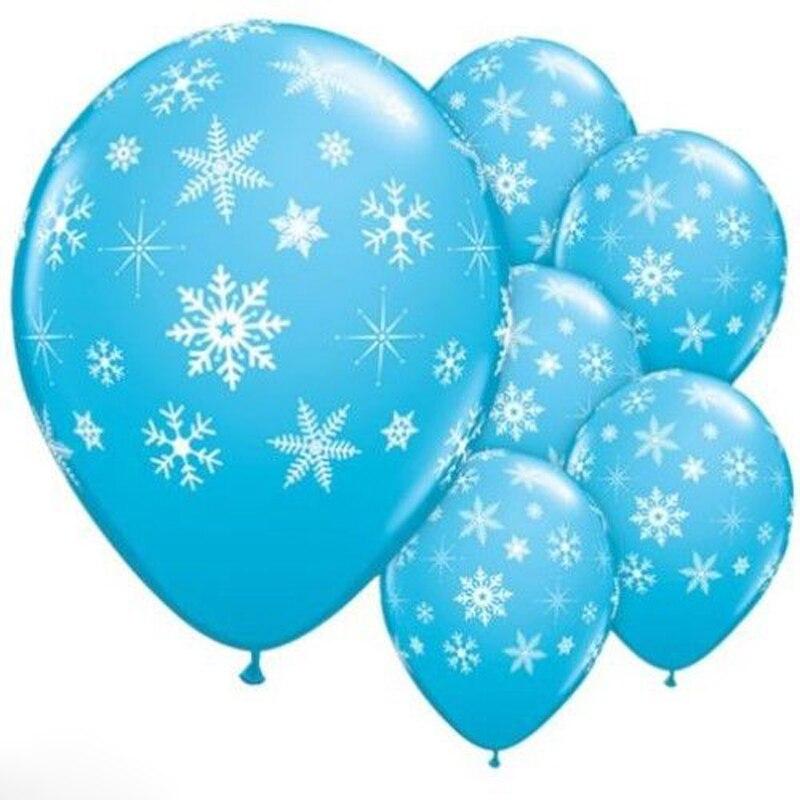 12pcs frozen snowflake latex balloon for birthday party