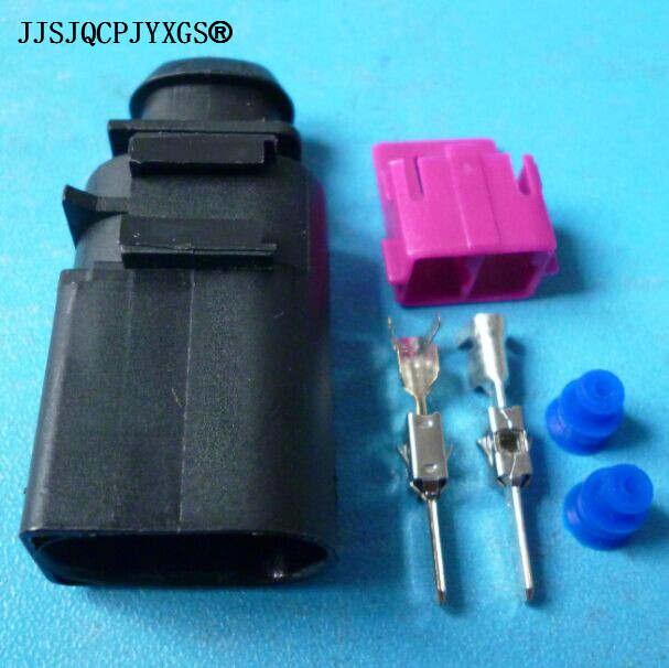 JJSJQCPJYXGS 100sets 2 way 3.5 series auto electrical wire harness male connector 8D0 973 822 8D0973822