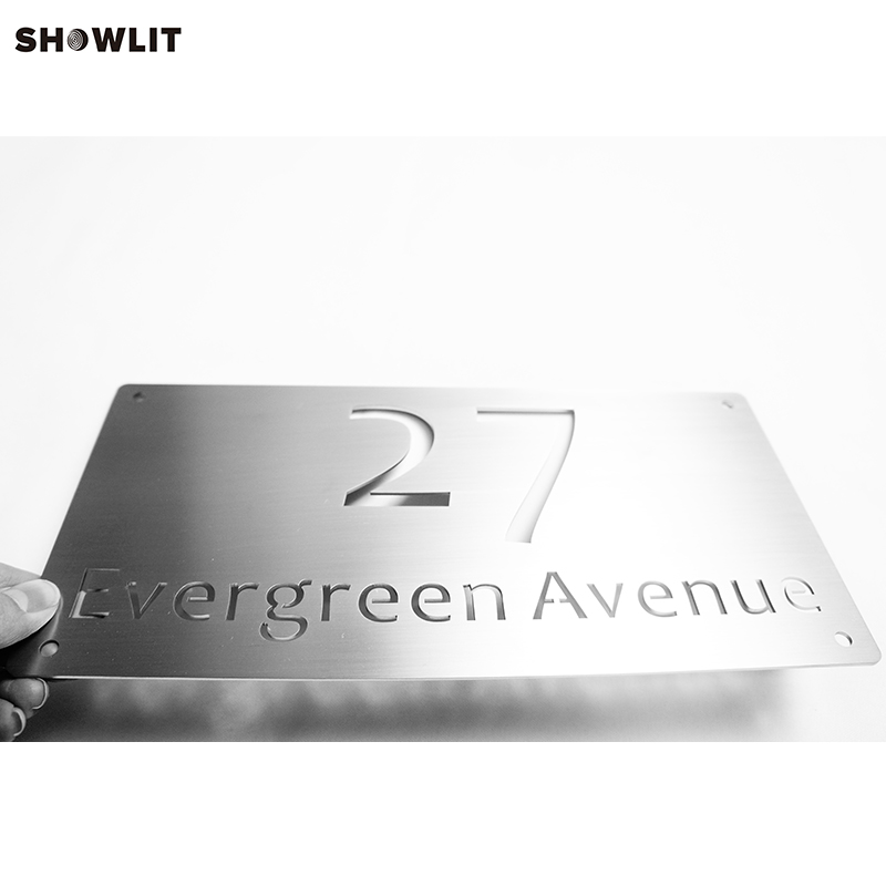 6 inches Width Laser Cutting Out Custom Made Brushed Address Street Name Signs6 inches Width Laser Cutting Out Custom Made Brushed Address Street Name Signs