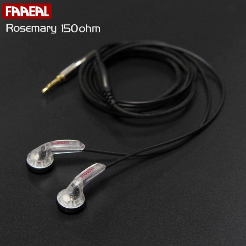 Original FAAEAL Rosemary 150ohms Flat Head High Impedance HiFi earphone DIY MX500 earbud Heavy bass Sound Quality earbuds