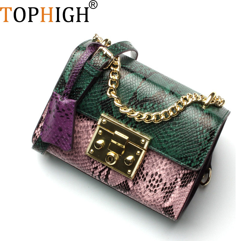 Personality Snake Lock Decoration Women handbag 2018 Big Luxury Evening Party Clutch Women s Genuine Leather