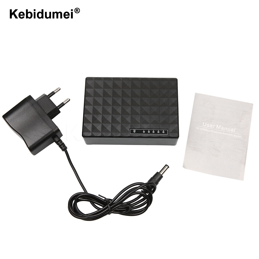 Computer-peripheriegeräte Kebidumei Neue Mini 5 Port 10/100 Mbps Basis Ethernet Switch Hub Fast Ethernet Netzwerk Desktop Schalter Adapter Schwarz QualitäT Und QuantitäT Gesichert Kvm-switches