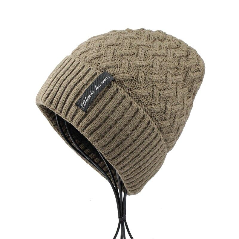 FETSBUY  inverno Homens Chapéu Gorro de Malha de Tricô de Lã Chapéus  Meninos Gorros Bonnet Gorro Touca Quente Casual Masculina Inverno 18011 em  Skullies ... 0e445b7fcc2
