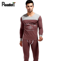 2015 Autumn Winter Mens Long Johns Cotton Top And Bottom Leggings Pants Men Thermal Underwear Set