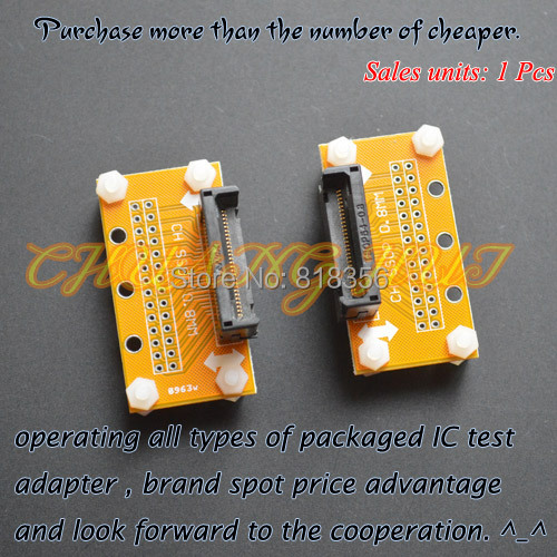 TEST SSOP8-SSOP54 test socket Pitch=0.8mm SSOP IC TEST SOCKET Width can be adjusted freely without restriction бесплатная доставка электронные компоненты в исходном sn74gtlph16612dl ic univ bus txrx 18bit 56 ssop gtlph16612 74gtlph16612 1 шт