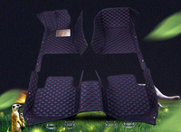 For VW Volkswagen Tiguan 2017 2018 Artificial Leather Car Interior Floor Carpets Foot Mat Pat Car Styling!