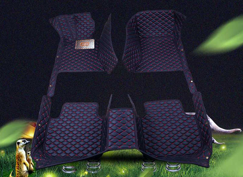 For Vw Volkswagen Tiguan 2017 2018 Artificial Leather Car Interior Floor Carpets Foot Mat Pat