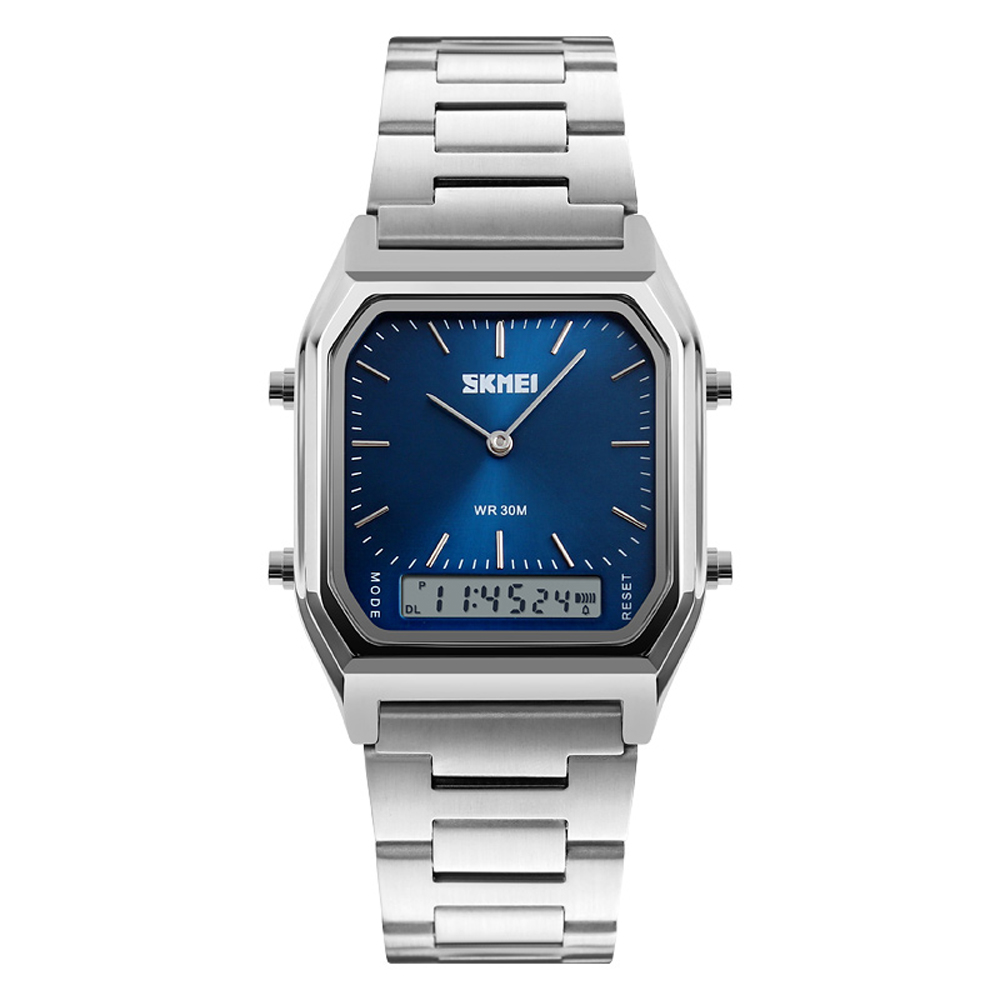SKMEI New Sport Watch For Man Fashion Casual Quartz Wristwatches Digital Chronograph Back Light Waterproof Watch Dual Time 1220