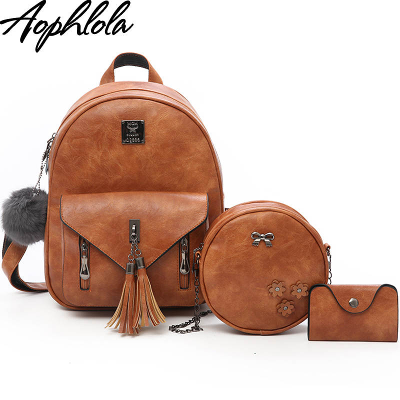 New 2018 Fashion Women Tassel Backpack Leather Ladies Shoulder Bags Girls School Book Bag Black Backpacks Mochila Bagpack 4 Sets aluminium tuned exhaust pipe for zenoah crrc rcmk petrol marine engine rc gas boat