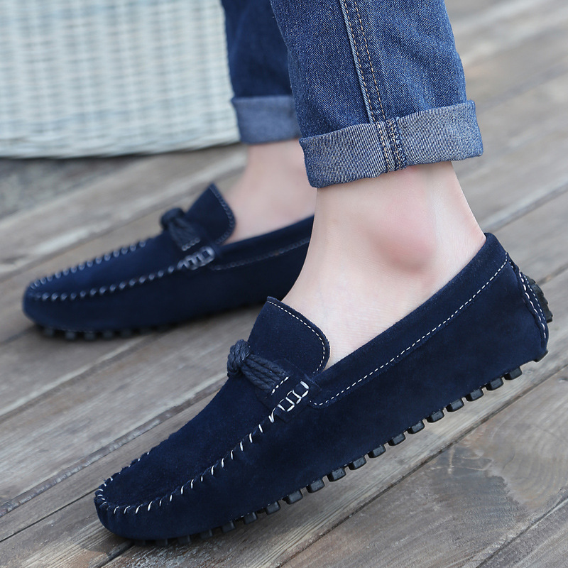 SHIFOPUTI 2018 Men Casual Shoes Cow Suede Leather Loafers Leather Driving Moccasins Slip ...