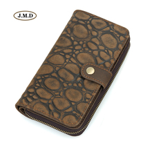 J.M.D Genuine Leather New Unique Cobble Desinger Cow Lady Purse Long Card Money Holder Clutch Bag 8126-2R