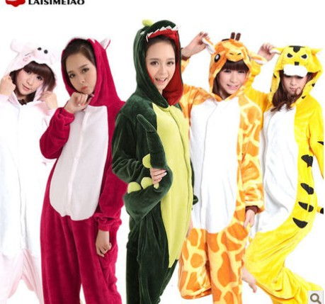 Aliexpress.com : Buy Flannel cute footed Cosplay Pajama Sets Women ...