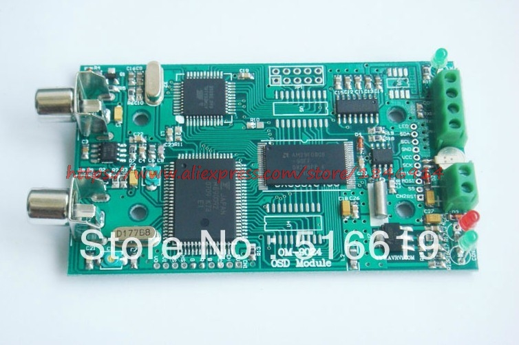Free Shipping OSD Module Video Character Superimposition Module Video Transparent Transmission Module OM9024