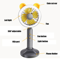 Lovely Portable Multifunction Fan With Selfie LED Ring Light USB Charger Fan For Hot Summer Phone Holder For iPhone For Samsung