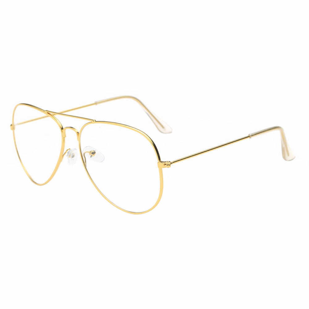 ... Fashion Accessories Men Women Clear Lens Glasses Metal Spectacle Frame  Myopia Eyeglasses Lunette Fe Anti- ... 901e2b007697