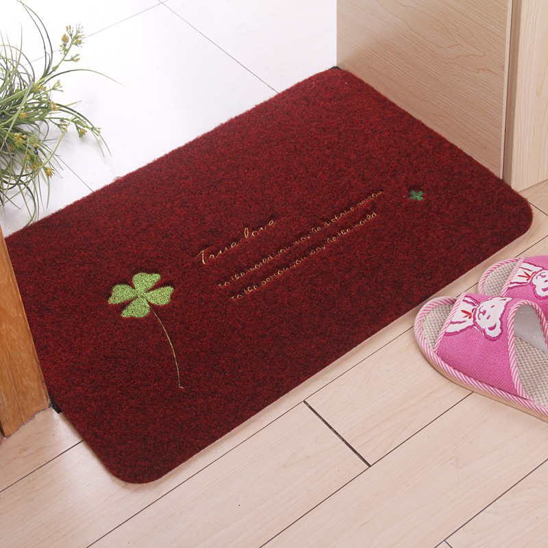 Four Leaves Clover Welcome Floor Mats