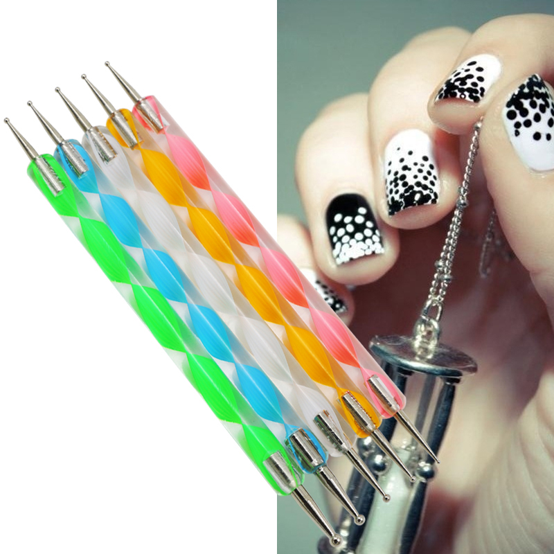 5pcslot Nail Art Design Painting Tool Double End Pen Polish Set