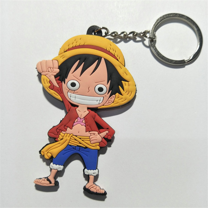 One Piece PVC Keychain Figures Toys Anime Cartoon Luffy Chopper Zoro Nico Nami  Sanji Key Bag Pendants Keyring Dolls 10pcslot (5)