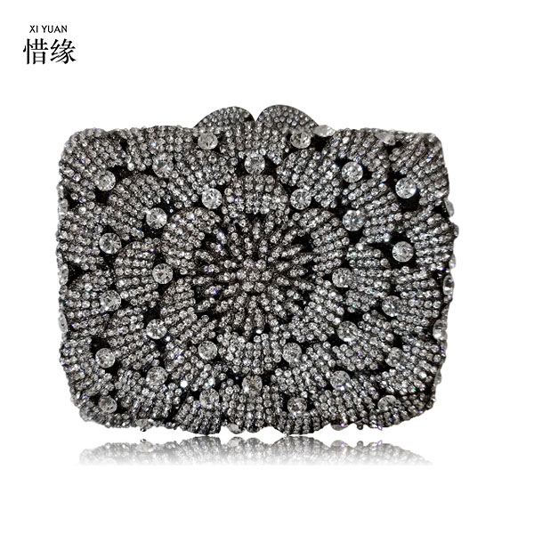 XIYUAN BRAND women blue party Clutch Bags Lady Diamond black gold Evening Bag Female Fashion Wedding silver day Clutches xiyuan brand gold party purse bags women luxury silver crystal evening bags female pochette diamond ladies wedding clutch bags