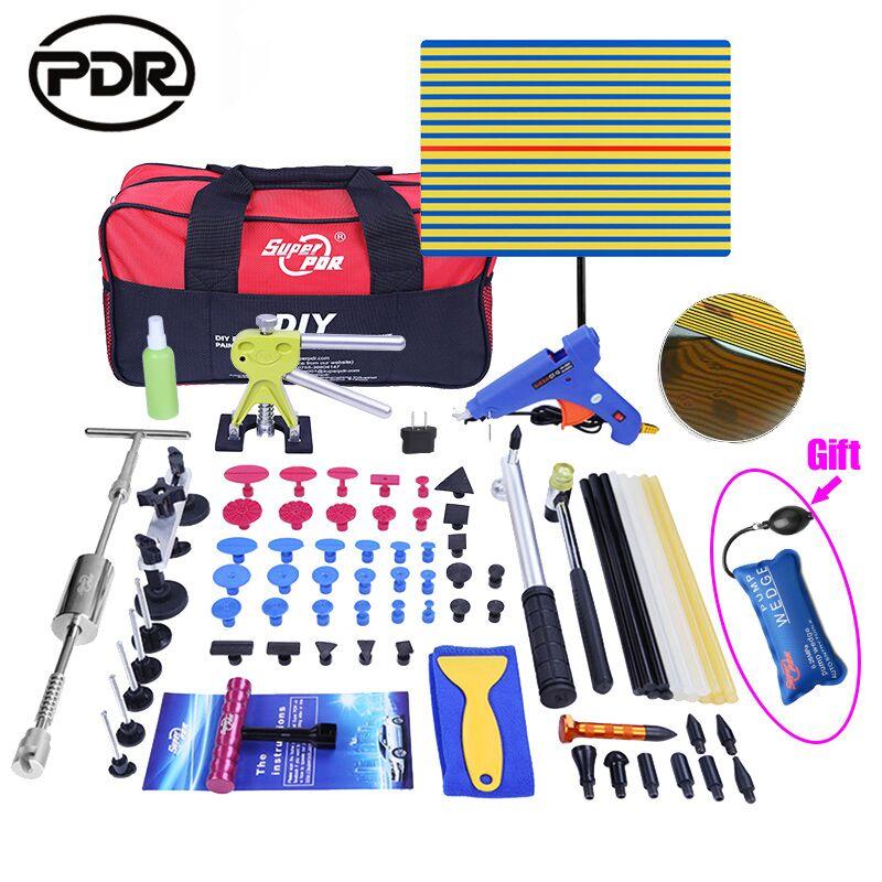 Outils de rechange Kit bricolage Supprimer Dent Paintless Dent outil de réparation De Voiture Dent Remover Inverse Marteau Redressement Tirant Bosses Instruments