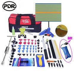 PDR Kit de herramientas DIY quitar abolladuras sin pintura herramienta de reparación de abolladuras de coche removedor de abolladuras de martillo inverso enderezamiento de abolladuras de tracción instrumentos