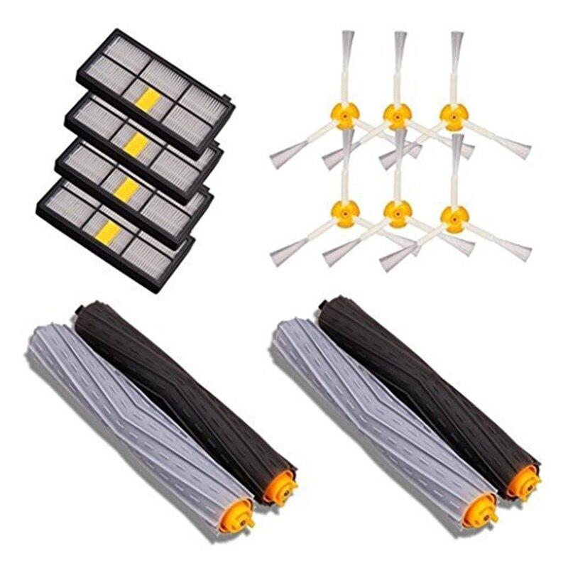 Piezas de unids aspiradora 14 piezas accesorios para iRobot Roomba 880 990 980 871 870 860 piezas de repuesto Kit de cepillos de repuesto