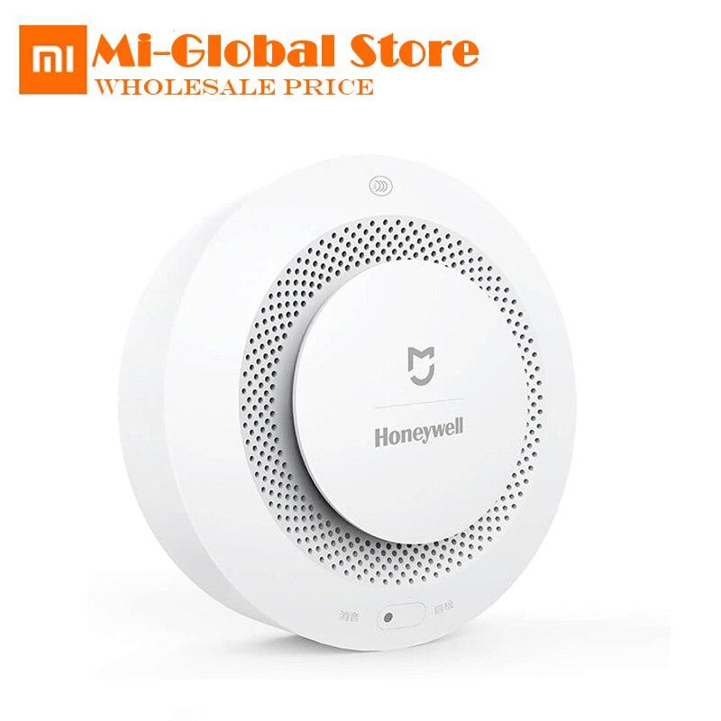 Original xiaomi mijia Honeywell inteligente alarma de incendio del detector de humo fotoeléctrico sensor vinculación remota mihome App trabajar con Gateway