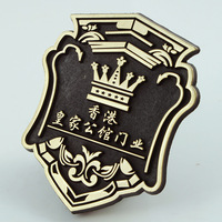 Custom Made Zinc Alloy Company Name Plating Badge Embossed Metal Label Door Bronze Decorative Sticker Trademark