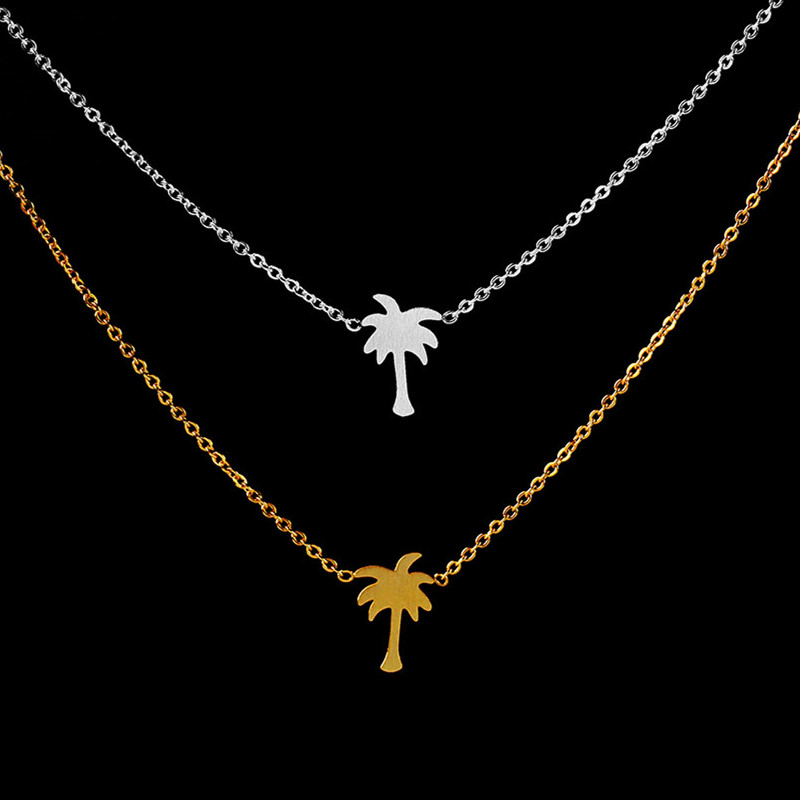 2018 new island life palm tree necklace tropical palm tree inspired 2018 new island life palm tree necklace tropical palm tree inspired plant necklace for women tattoo choker gift for girlfriend in chain necklaces from mozeypictures Gallery