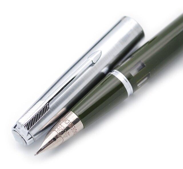 Kanat Sung 601A çelik kapak Vacumatic dolma kalem, güncellenmiş sürümü popüler mürekkep kalem