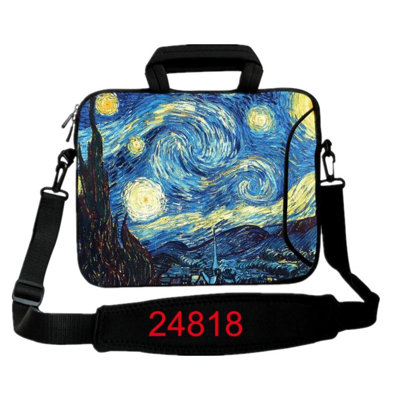 Van Gogh Laptop shoulder Bag neoprene Tablet PC Case For 10 12 13 14 15 17 inch Notebook Laptop Sleeve Cover Women