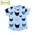 Estilo de verano Boy Camiseta de Los Niños 2017 Batman Modelo animal Del Bebé Superior camiseta de Marca Unisex Anime Boy Girl camiseta Embroma la Ropa Top