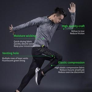 Image 4 - ROCKBROS koşu setleri spor spor takım elbise spor T shirt şort spor eğitimi giyim nefes koşu pantolonları erkek eşofman altı
