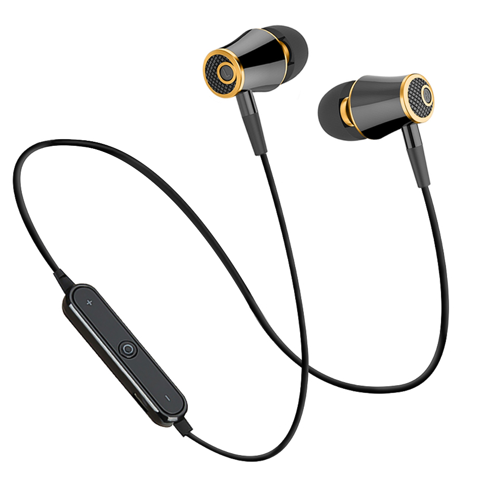 Bluetooth Earphones Wireless Running Stereo Earbuds Sweatproof Mic
