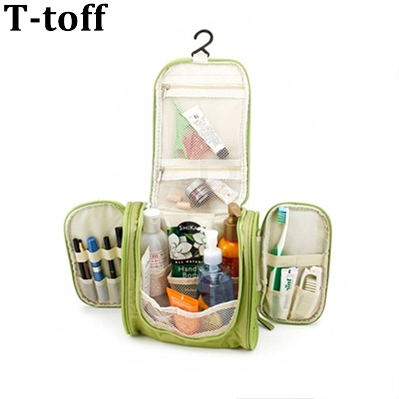 Portable Large Storage Folding Waterproof Polyester Hanging Travel  Accessories Men and Women Travel Toiletry Bags image afbe5ada92c42