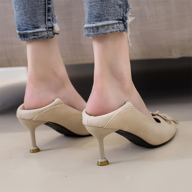 Patente beige 19 Black Ol Caucho Bombas Puntiagudo Mujeres Del Las Pie Mariposa Súper nudo Flexible Primavera dedo camel Suave Zapatos Mujer otoño Casuales Talón De rw8qrgp