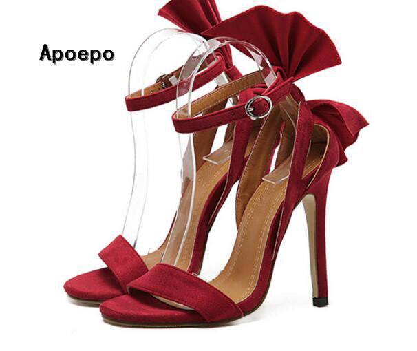 hot selling high heel sandal 2017 sexy open toe ruffles thin heels woman shoes beautiful ankle strap gladiator sandal hot selling black leather sandal high heel summer open toe chains decorations gladiator sandal woman cutouts thin heels shoes