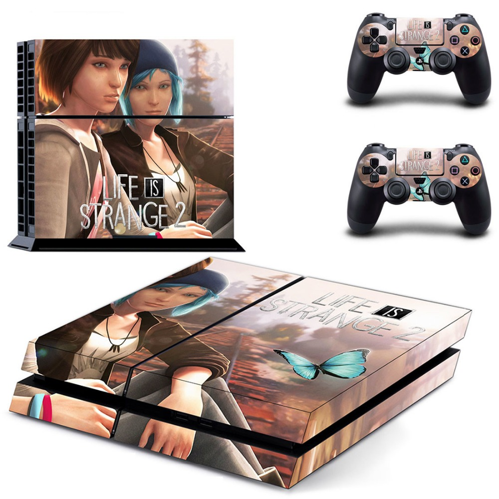 PS4 Skin Stickers For Sony Playstation 4 PS4 Console Vinyl Decals Controllers Game Life is Strange 2 Cover Play station 4