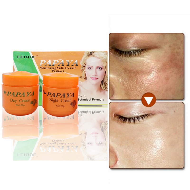 1pc/2pcs/3pcs Papaya Vitamina C Whitening Cream Skin Care Anti Freckle Face Cream Face Cleaser