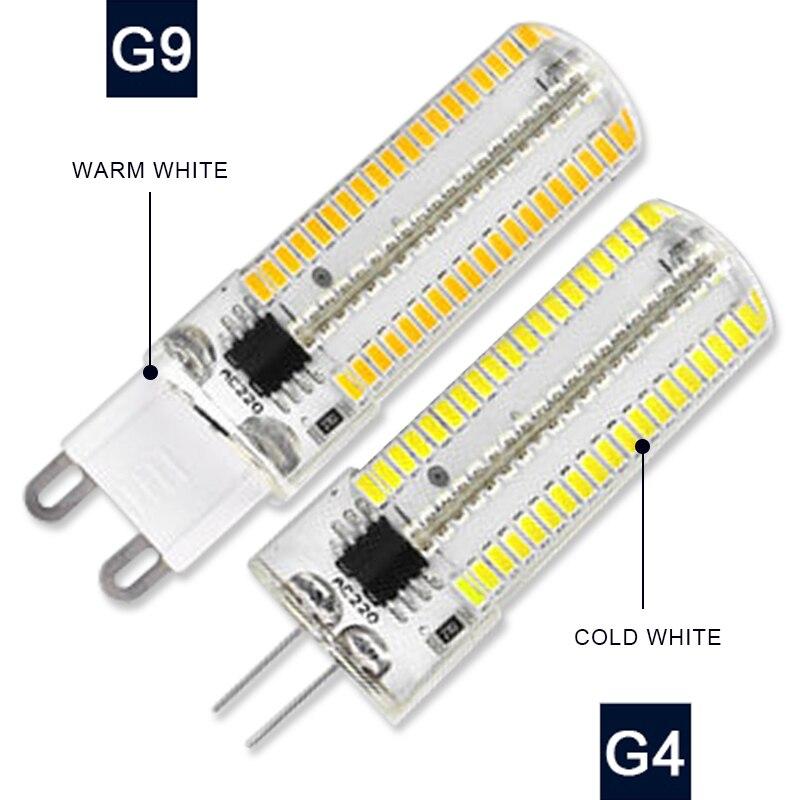 AC110V 220V lámpara LED G9 G4 Bola de maíz 3W 5W 7W 9W 12W reemplazo de luces halógenas iluminación de decoración para el hogar LUCKYLED luz LED moderna de pared espejo de Baño Luz 9W 12W AC 90-265V lámpara de pared impermeable
