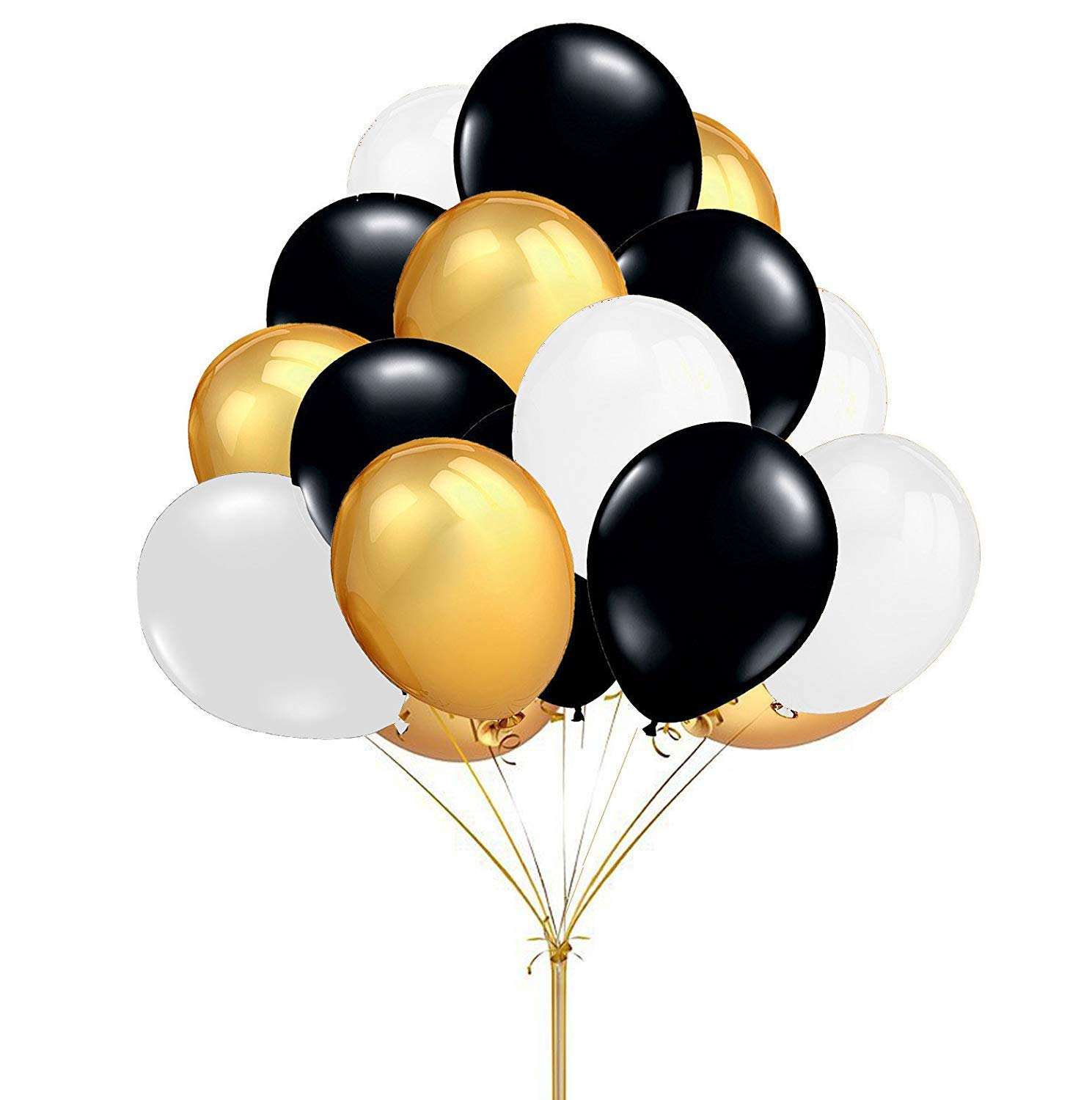 METABLE 100pcs/pack Gold Black White Round Latex Balloons for Decoration your party wedding birthday all kinds of