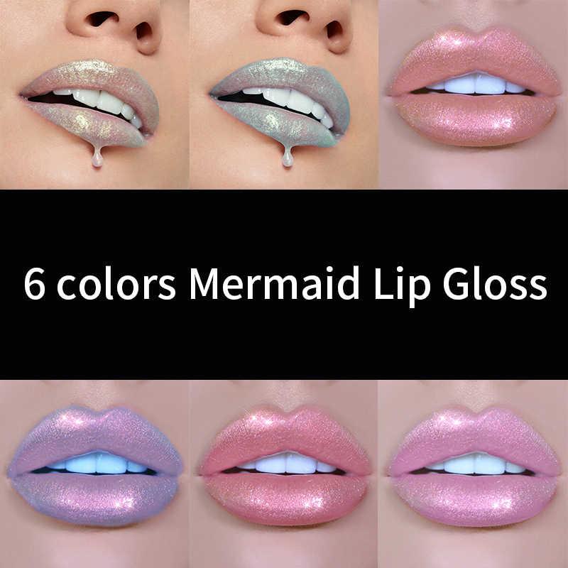 HANDAIYAN Glitter Ruj Sıvı Kristal Parlatıcı Dudak Parlatıcısı Lazer Holografik Dudak Tonu Çıplak Pigment Saten Lipgloss Güzellik Kozmetik