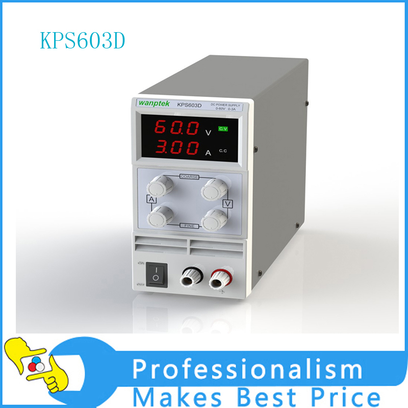 DC Power Supply KPS603D 60V 3A Adjustable 3-digit Display Resolution 0.1V 0.01A DC Mini Power Supply four digit display rps3003c 2 adjustable dc power supply 30v 3a linear power supply repair
