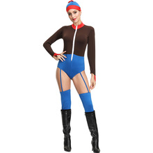 Sexy Clown Costume Cosplay For Women Halloween Adult Jumpsuit Bodysuit Carnival Party Suit