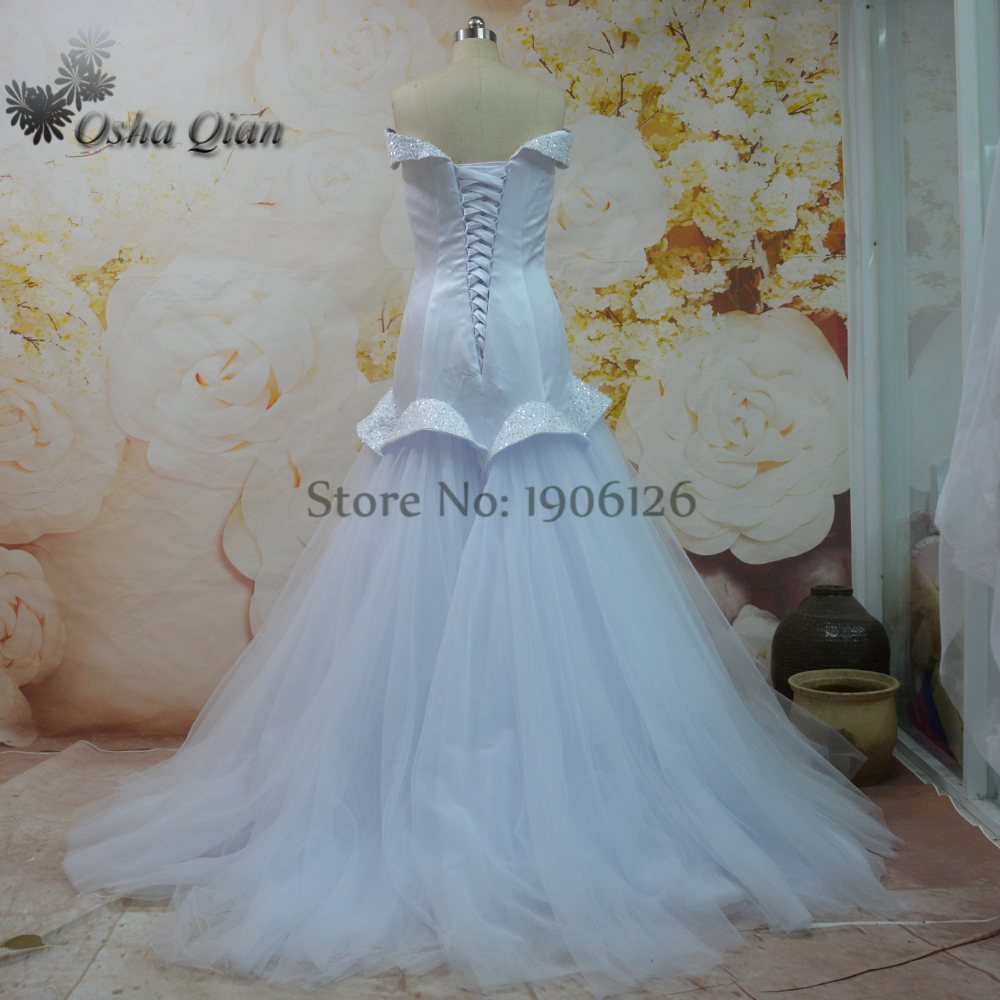 Newest Vintage Wedding Dress Mermaid Unique Design Tulle Beaded ...