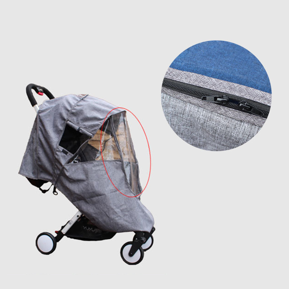 Baby Stroller Accessories Universal Rain Cover Waterproof Wind With Zipper Open For Baby Yoya Plus Babyzen Yoyo Pushchairs in Strollers Accessories from Mother Kids
