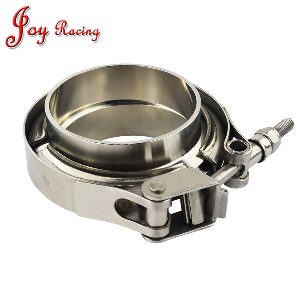 4 inch MagiDeal Stainless Steel V-Band Quick Release Clamp Male Female Flange Kits 2//2.5//3//3.5//4 inch