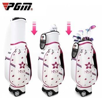 Sale Shopping In US. Order Now! Golf Standard Bag High Quality PU Golf Gun Bag Portable Golf Bag