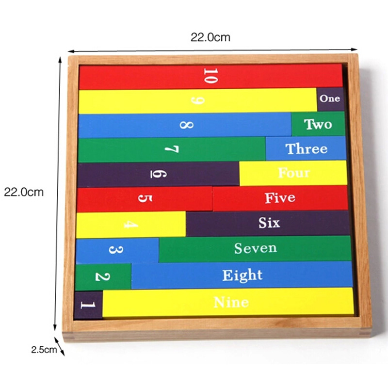 Juguete para bebés Varillas de barras numéricas Montessori - Educación y entrenamiento - foto 5