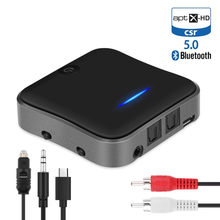 CSR8675 transmisor 5,0 Bluetooth APTX HD adaptador 3,5mm/SPDIF/Digital óptico Toslink para altavoz de coche, receptor de Audio Bluetooth(China)